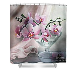 Orchids Shower Curtain by Vesna Martinjak