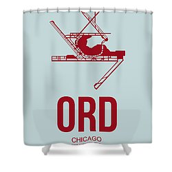 Ord Chicago Airport Poster 3 Shower Curtain