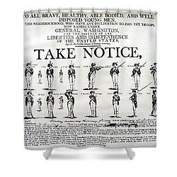 Order Of Battle - Take Notice Brave Men Shower Curtain
