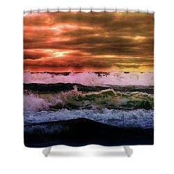 Ocean Storm Shower Curtain by Aaron Berg