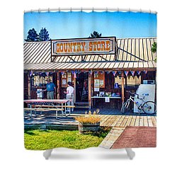 Oregon Country Store Shower Curtain by Bob and Nadine Johnston