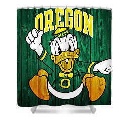 Oregon Ducks Barn Door Shower Curtain