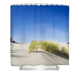 Oregon Dunes Shower Curtain by Charmian Vistaunet