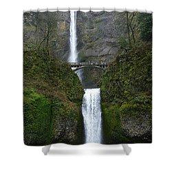 Oregon Long Shot Of  Falls Shower Curtain by Susan Garren