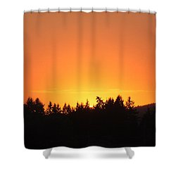 Oregon Sunset Shower Curtain by Melanie Lankford Photography