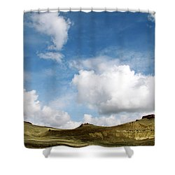 Oregon Trail Country Shower Curtain by Ed  Riche