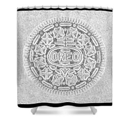 Oreo In Grey Shower Curtain by Rob Hans