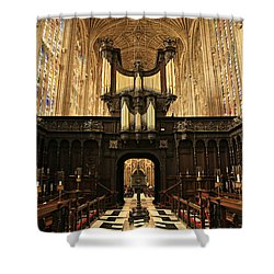 Organ And Choir - King's College Chapel Shower Curtain