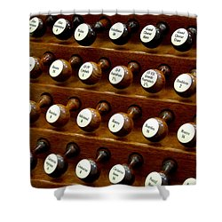 Organ Stop Knobs Shower Curtain