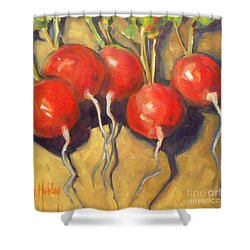 Organic Radishes Still Life Shower Curtain