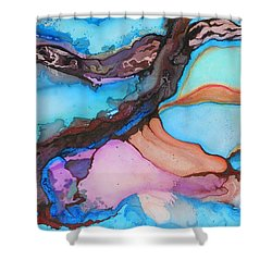 Organico Xvll Shower Curtain by Angel Ortiz