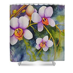 Orchids In My Garden Shower Curtain