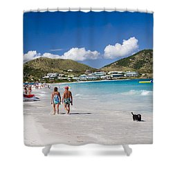 Orient Beach In St Martin Fwi Shower Curtain by David Smith