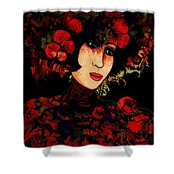 Oriental Beauty Shower Curtain by Natalie Holland