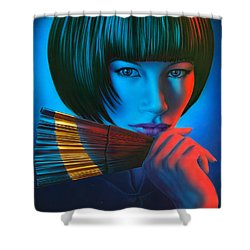 Oriental Gold Shower Curtain by Andrew Farley