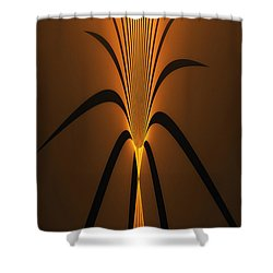 Oriental Vase Shower Curtain by GJ Blackman