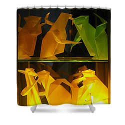 Origami Shower Curtain by Leena Pekkalainen
