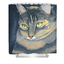 Original Cat Painting Shower Curtain by Norm Starks