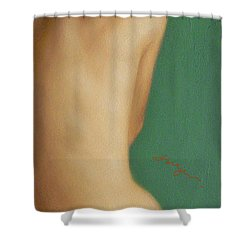 Original Classic Oil Painting Man Body Art-the Young Male Nude#16-2-1-07 Shower Curtain