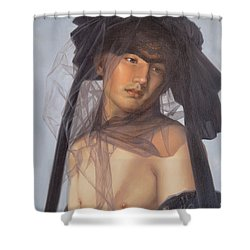 Original Oil Painting  Man Body Art-  Male Nude-053 Shower Curtain