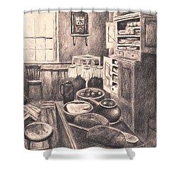 Original Old Fashioned Kitchen Shower Curtain by Kendall Kessler