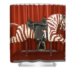 Original Zebra Carousel Ride Shower Curtain by Liane Wright
