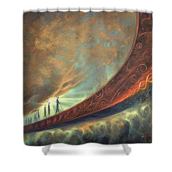 Origins Shower Curtain