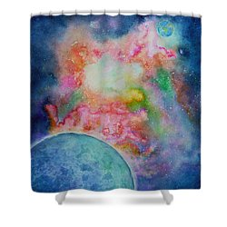 Orion Nebula Shower Curtain by Janet Immordino
