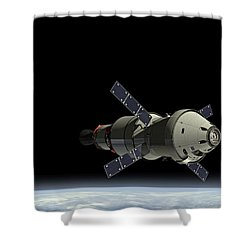 Orion Service Module Shower Curtain by Movie Poster Prints