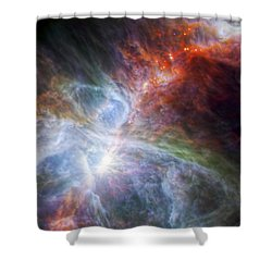 Orion's Rainbow Of Infrared Light Shower Curtain by Adam Romanowicz
