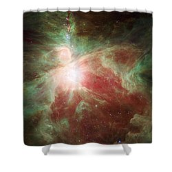Orion's Sword Shower Curtain by Adam Romanowicz