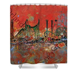 Orlando City Collage 2 Shower Curtain by Corporate Art Task Force