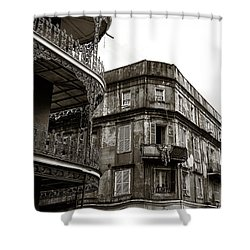 Orleans Vintage Look Mono Shower Curtain by John Rizzuto