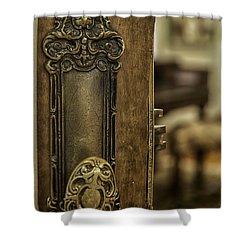 Ornate Brass Doorknob Shower Curtain by Lynn Palmer