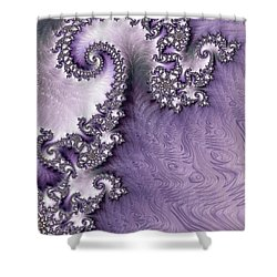 Ornate Lavender Fractal Abstract One  Shower Curtain by Heidi Smith