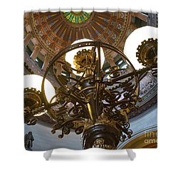 Ornate Lighting - Sprngfield Illinois Capitol Shower Curtain