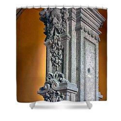 Ornate Mexican Stone Column Shower Curtain by Lynn Palmer