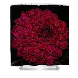 Ornate Red Dahlia Shower Curtain