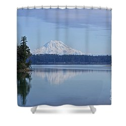 Oro Bay Reflection Shower Curtain
