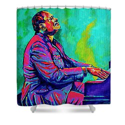 Oscar Shower Curtain by Derrick Higgins