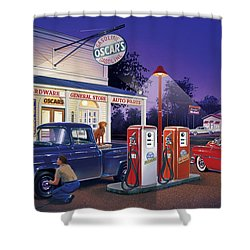 Oscar's General Store Shower Curtain by Bruce Kaiser