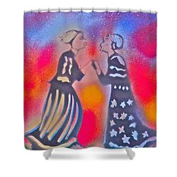 Oshun And Yemaya Shower Curtain by Tony B Conscious