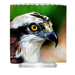 Osprey Portrait Shower Curtain