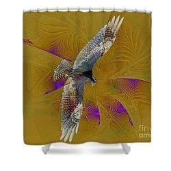 Osprey Wild Shower Curtain by Deborah Benoit