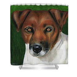 Otis Jack Russell Terrier Shower Curtain by Michelle Wrighton