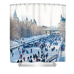 Ottawa Rideau Canal Shower Curtain by Cheryl Baxter