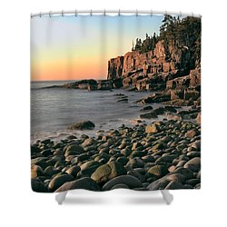 Otter Cliffs Shower Curtain by Jerry Fornarotto