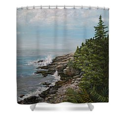 Otter Point - New England Shower Curtain