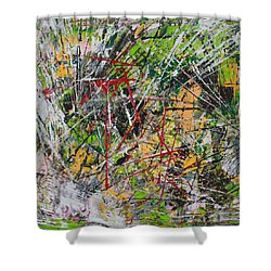 Shower Curtain featuring the painting Oumph by Lucy Matta