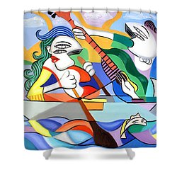 Our First Cruse  Shower Curtain by Anthony Falbo